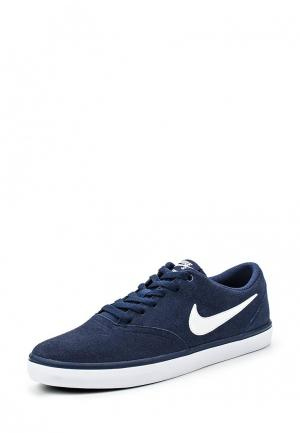 Кеды Nike MENS SB CHECK SOLARSOFT SKATEBOARDING SHOE. Цвет: синий
