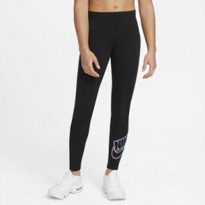 Легинсы для девочек Sportswear Favorites, размер 156-166 Nike. Цвет: черный
