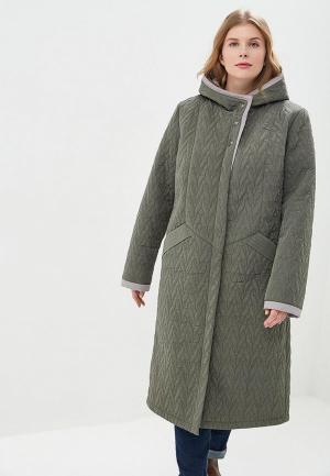 Куртка утепленная Wiko. Цвет: зеленый