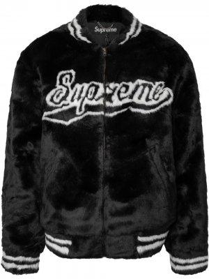 Куртка-бомбер Supreme. Цвет: черный