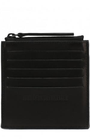 Кожаный футляр для кредитных карт с отделением на молнии Ann Demeulemeester. Цвет: черный