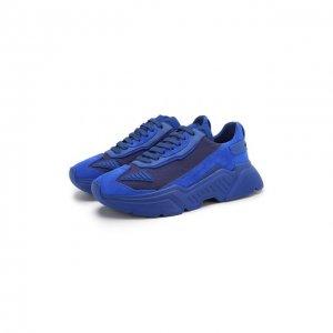 Комбинированные кроссовки Daymaster Dolce & Gabbana. Цвет: синий