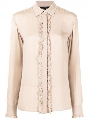 Рубашка с оборками Gucci Pre-Owned. Цвет: коричневый