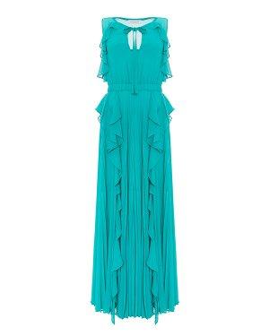 Платье AX33 40 бирюзовый Anna Rachele. Цвет: бирюзовый