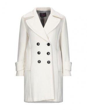 Пальто BETTA CONTEMPORARY COUTURE. Цвет: слоновая кость