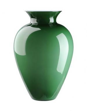 Ваза VENINI. Цвет: зеленый-милитари