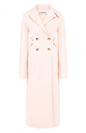 Пальто из шерсти и кашемира Lanvin. Цвет: розовый