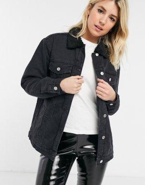 Черная выбеленная джинсовая куртка Razzy-Черный цвет Bolongaro Trevor