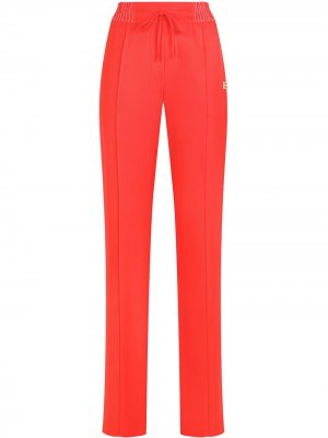 Твиловые брюки прямого кроя Dolce & Gabbana. Цвет: красный