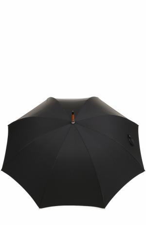 Зонт-трость Ermenegildo Zegna. Цвет: чёрный