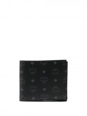 Бумажник с принтом Visetos MCM. Цвет: черный