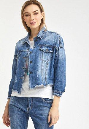 Куртка джинсовая Mossmore. Цвет: синий