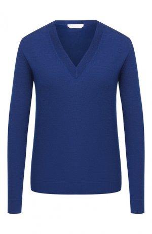 Шерстяной пуловер BOSS. Цвет: синий