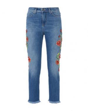 Джинсовые брюки-капри GEORGE J. LOVE. Цвет: синий