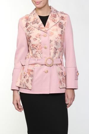 Пальто Амулет. Цвет: розовый