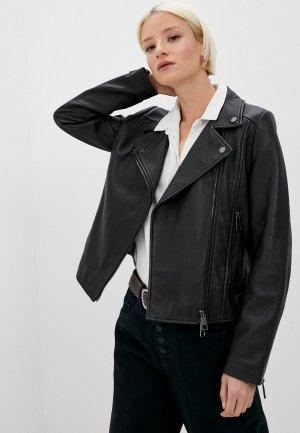 Куртка кожаная Boss LAMODA EXCLUSIVE. Цвет: черный