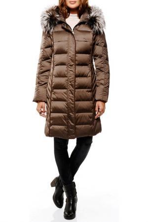 Пальто-пуховик Arturo. Цвет: коричневый