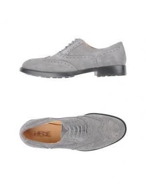Обувь на шнурках HENNE. Цвет: свинцово-серый