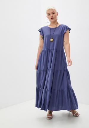 Платье и колье Hey Look. Цвет: синий
