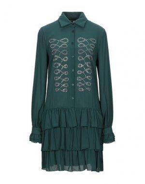 Короткое платье DENNY ROSE. Цвет: темно-зеленый