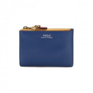 Кожаный футляр для кредитных карт Polo Ralph Lauren. Цвет: разноцветный