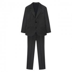 Костюм из пиджака и брюк Emporio Armani. Цвет: серый