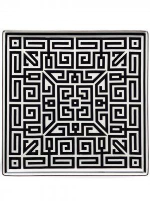Labirinto square plate (30cm) Richard Ginori. Цвет: черный