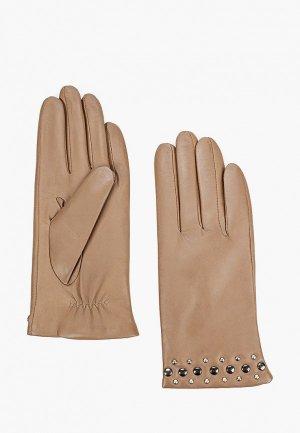 Перчатки Lantana. Цвет: бежевый