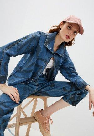 Рубашка джинсовая Kenzo. Цвет: синий