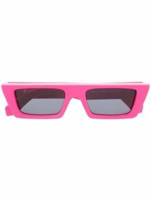 Солнцезащитные очки Marfa в прямоугольной оправе Off-White. Цвет: розовый