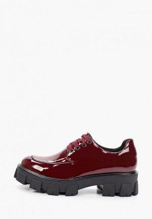 Ботинки Inario. Цвет: бордовый