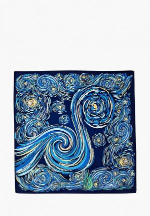 Платок Freywille Hommage a Vincent Van Gogh. Цвет: синий