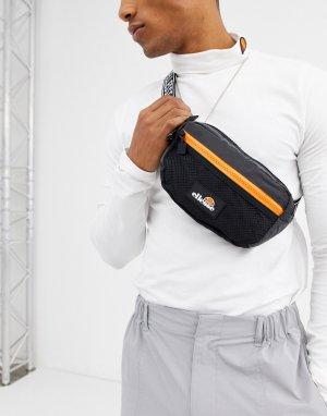Черная сумка-кошелек на пояс -Черный ellesse