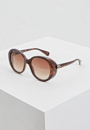 Очки солнцезащитные Gucci GG0368S002. Цвет: коричневый