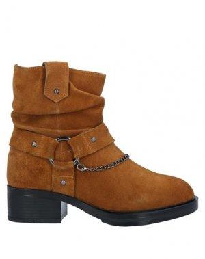 Полусапоги и высокие ботинки APEPAZZA. Цвет: желто-коричневый