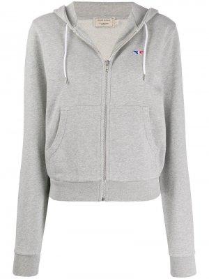 Куртка на молнии Maison Kitsuné. Цвет: серый