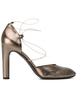 Туфли Laminato Del Carlo. Цвет: серый