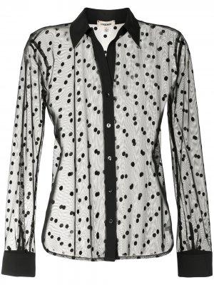 LAgence полупрозрачная рубашка в горох L'Agence. Цвет: черный