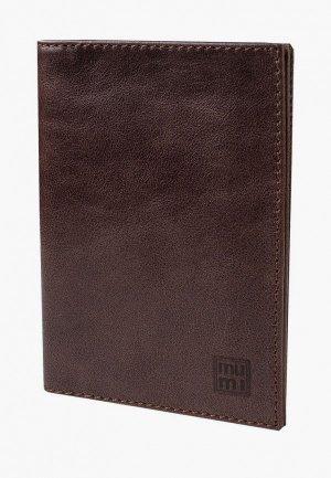 Обложка для документов Mumi. Цвет: коричневый