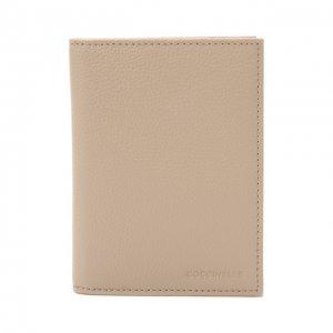 Кожаная обложка для паспорта Coccinelle. Цвет: бежевый