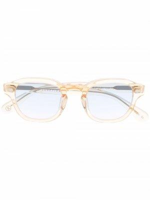 Солнцезащитные очки Posh 100 в квадратной оправе Lesca. Цвет: нейтральные цвета