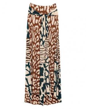 Длинная юбка ISSA. Цвет: коричневый