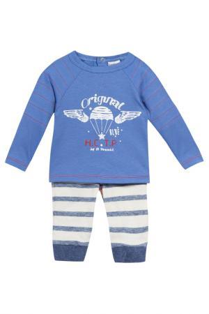 Футболка и брюки 3POMMES. Цвет: синий