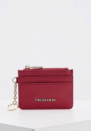 Кредитница Trussardi Jeans 8х11 см. Цвет: розовый