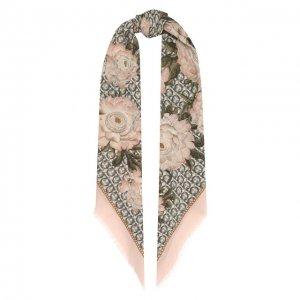 Шерстяная шаль Salvatore Ferragamo. Цвет: розовый