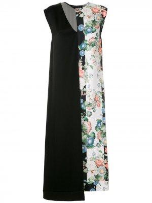 Платье миди асимметричного кроя Gloria Coelho. Цвет: черный