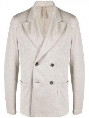 Двубортный пиджак Harris Wharf London. Цвет: нейтральные цвета