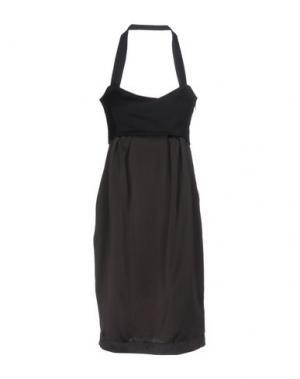 Платье до колена BLUE DEEP. Цвет: темно-коричневый