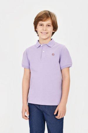Поло baon. Цвет: фиолетовый
