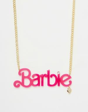 Ожерелье с подвеской из оргстекла Neon Barbie. Цвет: золотой